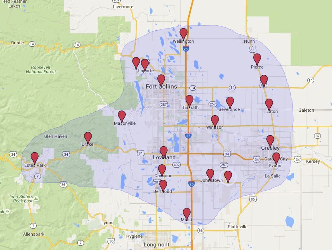 M&E Service Areas