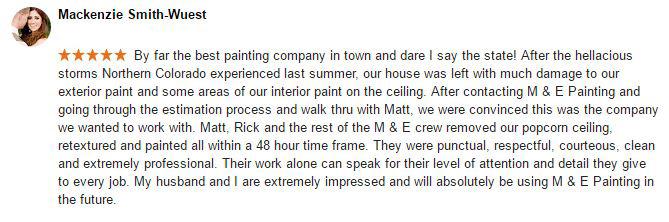 Fort Collins House Painting Review - Mackenzie Smith Wuest